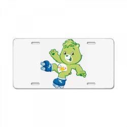 Rainbow green skate bear License Plate | Artistshot