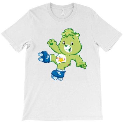 Rainbow Green Skate Bear T-shirt Designed By Şen