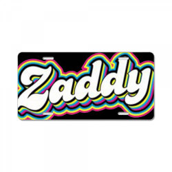 plant zaddy colorful License Plate | Artistshot