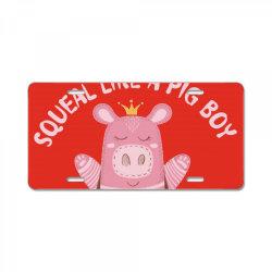 Happy Pig License Plate | Artistshot