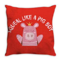 Happy Pig Throw Pillow | Artistshot