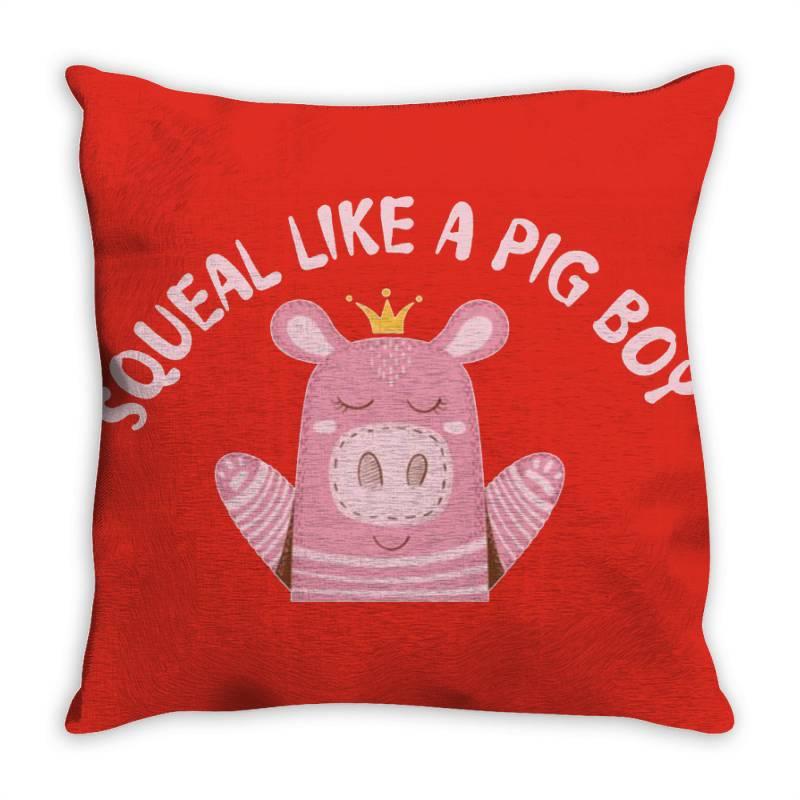 Happy Pig Throw Pillow   Artistshot