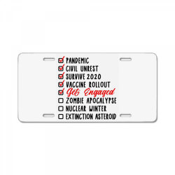funny engagement marriage wedding couples License Plate | Artistshot