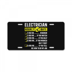 funny electrician gifts License Plate | Artistshot