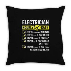 funny electrician gifts Throw Pillow | Artistshot