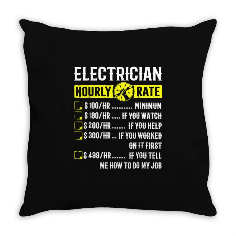 Funny Electrician Gifts Throw Pillow   Artistshot
