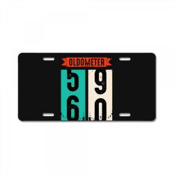 oldometer 59 60 car lover vintage retro License Plate   Artistshot