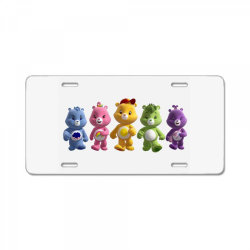 Rainbow bear care bear party License Plate | Artistshot