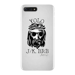 funny jesus easter yolo jk brb iPhone 7 Plus Case   Artistshot