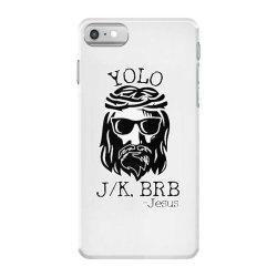 funny jesus easter yolo jk brb iPhone 7 Case   Artistshot