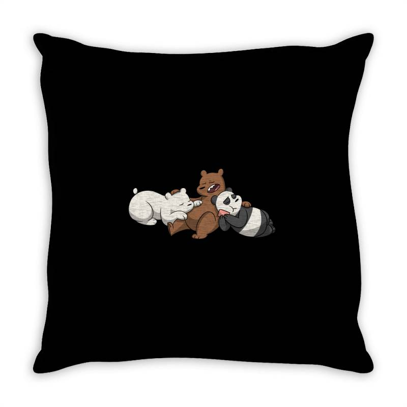 Grizzly Bear Panda Brothers Throw Pillow | Artistshot