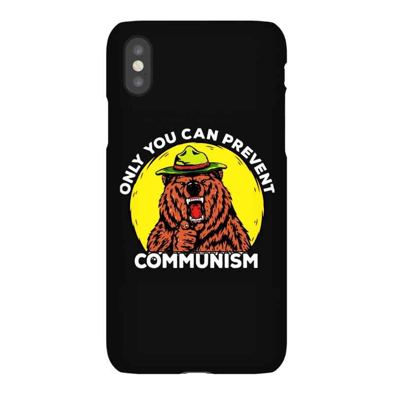 Only You Can Prevent Communism Camping Bear Iphonex Case   Artistshot