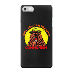 only you can prevent communism camping bear iPhone 7 Case | Artistshot