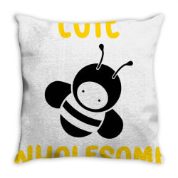 cute wholesome bee Throw Pillow | Artistshot