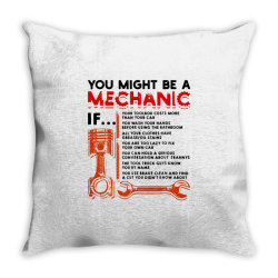 you might be a mechanic Throw Pillow | Artistshot
