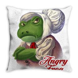 grenouille carre Throw Pillow | Artistshot