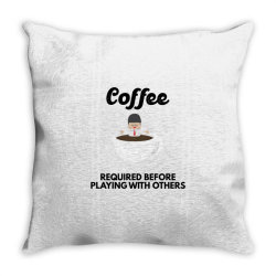coffee before playing Throw Pillow | Artistshot