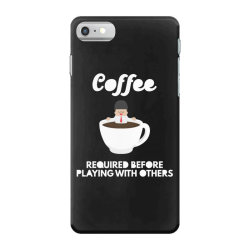 coffee before playing iPhone 7 Case | Artistshot