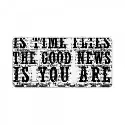 GOOD NEWS VS BAD NEWS License Plate | Artistshot