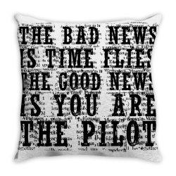 GOOD NEWS VS BAD NEWS Throw Pillow | Artistshot