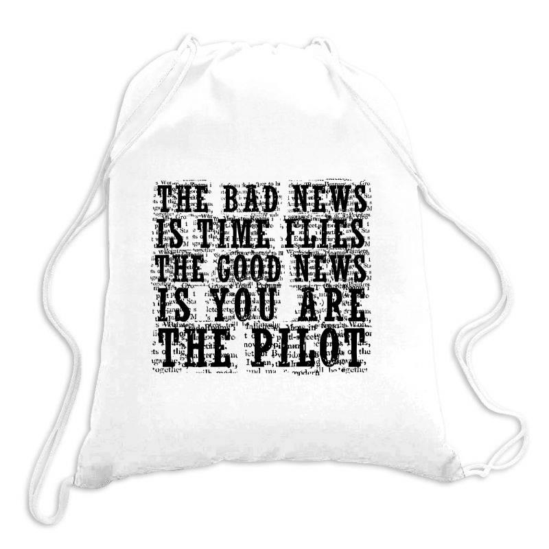 Good News Vs Bad News Drawstring Bags | Artistshot