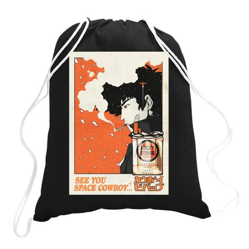 Cow .boy Be .bop Classic T Shirt Drawstring Bags | Artistshot