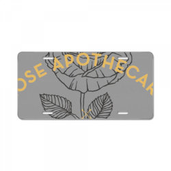 dar  ro .se apothecary classic t shirt License Plate | Artistshot
