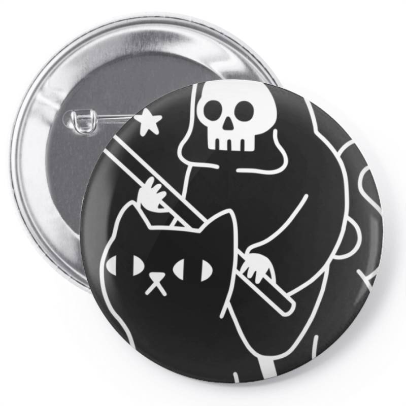 Death Rid .es A Black Cat Classic T Shirt Pin-back Button | Artistshot