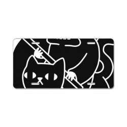 death rid .es a black cat classic t shirt License Plate | Artistshot