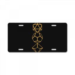 dice set sword tabletop .r.p.g gam  classic t shirt License Plate | Artistshot