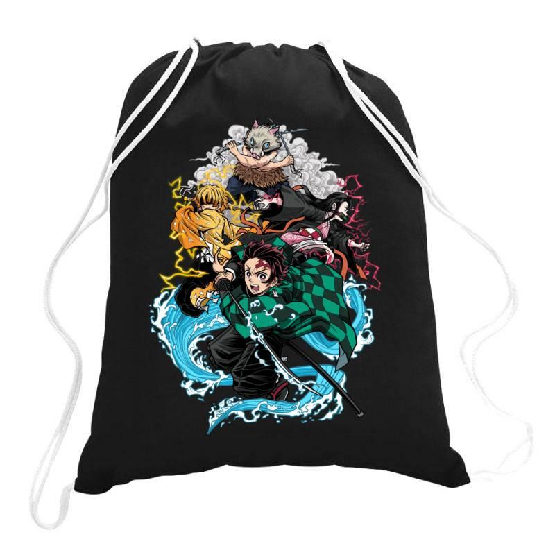 De .mon Slay .er Classic T Shirt Drawstring Bags | Artistshot