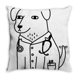 dog dogtor classic t shirt Throw Pillow | Artistshot