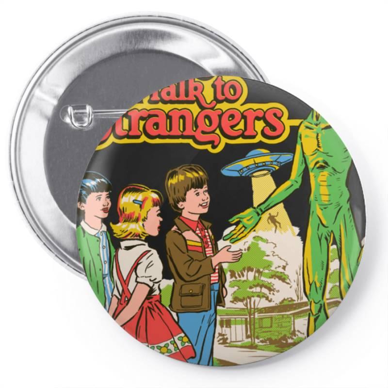 Don Not &x27  Talk To Strangers Classic T Shirt Pin-back Button   Artistshot