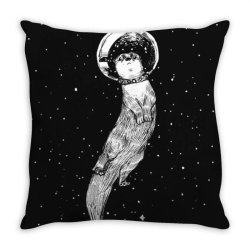 drifting in otter spac.e (best for color) essential t shirt Throw Pillow | Artistshot