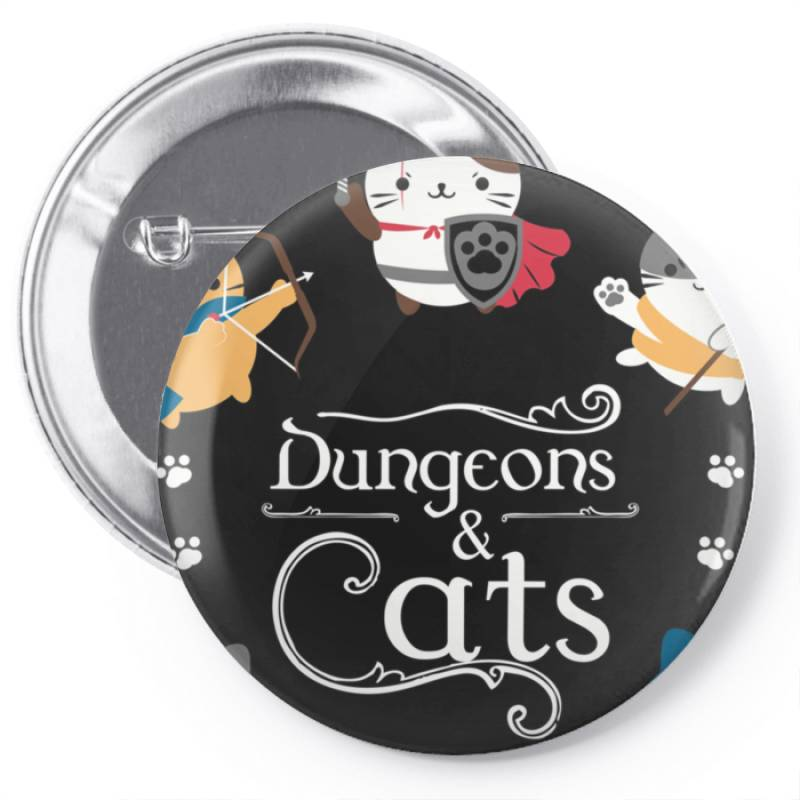 Dung .eons And Cats Essential T Shirt Pin-back Button | Artistshot
