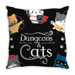 dung .eons and cats essential t shirt Throw Pillow | Artistshot