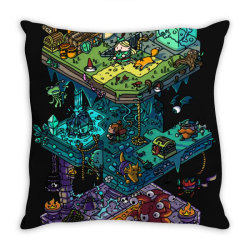 dung .eons and isometric drago classic t shirt Throw Pillow | Artistshot