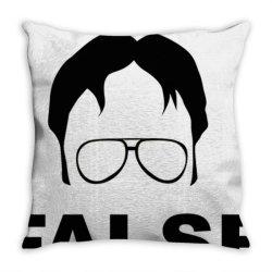 dwight schrute false essential t shirt Throw Pillow | Artistshot
