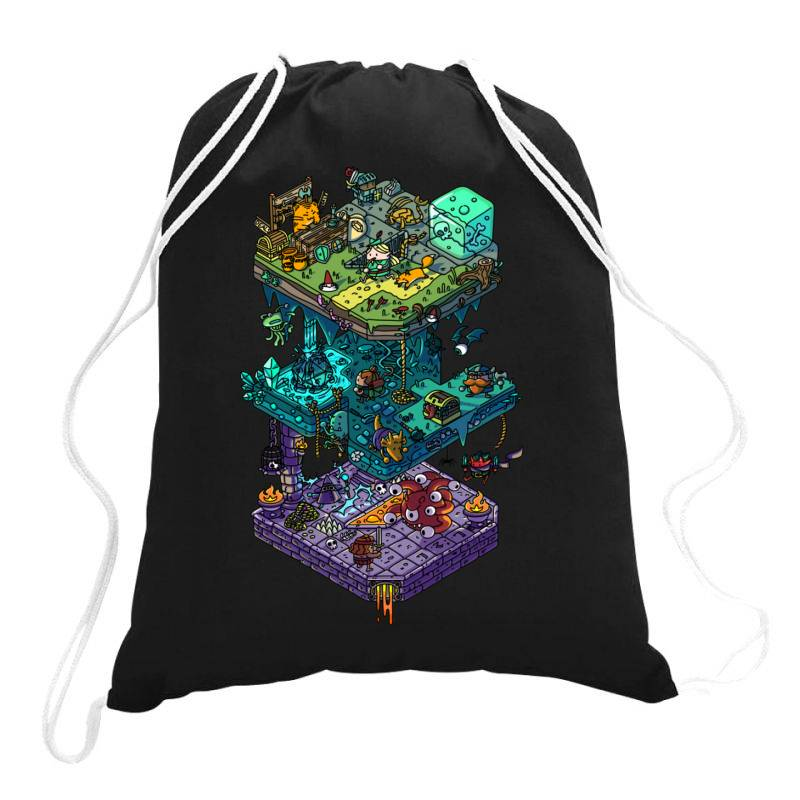 Dung .eons And Isometric Drago Classic T Shirt Drawstring Bags | Artistshot