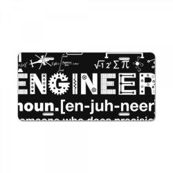 engineer hu .mor definition essential t shirt License Plate   Artistshot