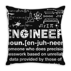 engineer hu .mor definition essential t shirt Throw Pillow | Artistshot