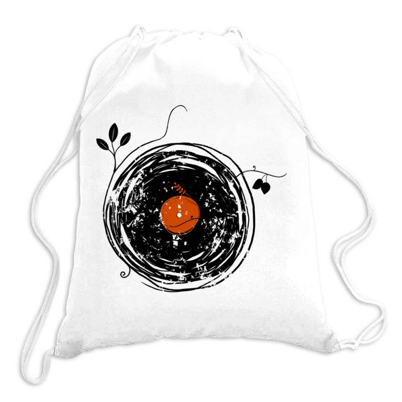 Enchanting Vinyl Records Vintage Essential T Shirt Drawstring Bags | Artistshot