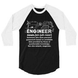 engineer hu .mor definition essential t shirt 3/4 Sleeve Shirt | Artistshot