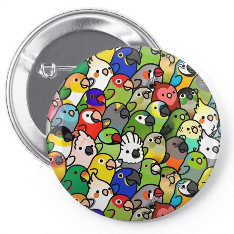 Every Bir.dy Pattern Sleeveless Top Pin-back Button   Artistshot