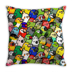 every bir.dy pattern sleeveless top Throw Pillow | Artistshot