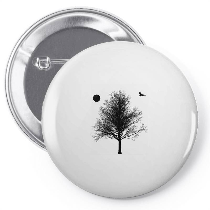 Tree, Eagle Silhouette Calmness Nature Pin-back Button | Artistshot