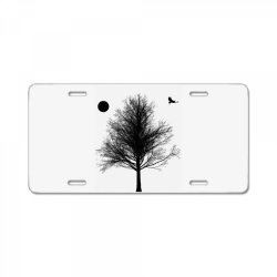 Tree, Eagle Silhouette Calmness Nature License Plate | Artistshot