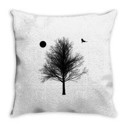 Tree, Eagle Silhouette Calmness Nature Throw Pillow | Artistshot