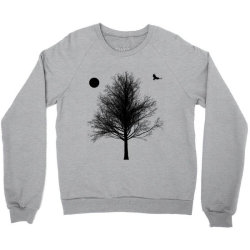 Tree, Eagle Silhouette Calmness Nature Crewneck Sweatshirt | Artistshot