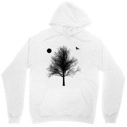 Tree, Eagle Silhouette Calmness Nature Unisex Hoodie | Artistshot